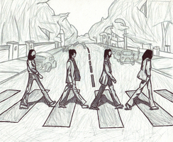 Abbey Road Illustration by VaIisk