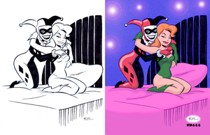Coloring over Bruce Timm by HK666