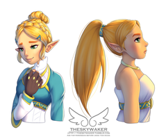 Zelda With Her Hair Up (5 21 2017) by theskywaker