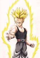 Future Trunks - Colored Drawing by InlineSpeedSkater