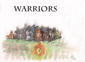 Drawing: Warriors by Espenfluss