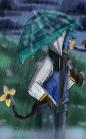 Leon in the Rain by MouseAlchemist