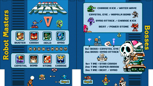 Mega Man 5 NES Cheat Sheet by Moelleuh