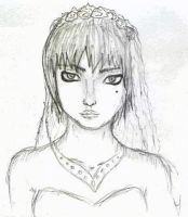 Sketch on work: bride by signore-illusionista