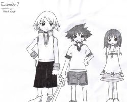 Ickle Riku, Sora and Kairi by JenniMGF