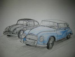 VW and DKW by RadiatingCalm