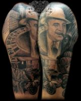 Gangster half sleeve by state-of-art-tattoo