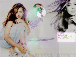 Wallpaper - Alyssa Milano by l0nd0n-calling