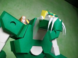 Papercraft Warmaster Gorrath's Mech 3 by MarcGo26