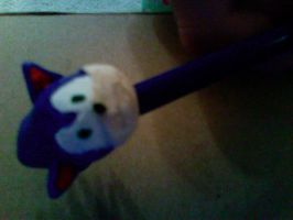 Sonic Pencil Topper: Front by hobfrog07