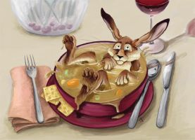 There's a Hare in My Soup by draike