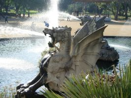 Dragon spits... water by Paraformaldehyde