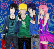 Naruto team 7 collab by superjacqui