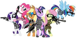 Mane Six..... Halo Style by BIG-MAC-115