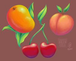 Fruity - Painting Practice by countessdrawcula