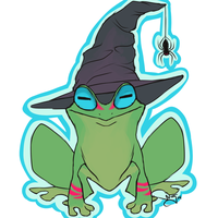 Bewitching Frog by SpookyScreamz