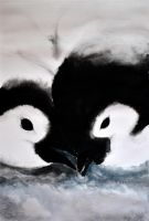 Baby penguins by Verenique