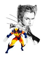 Wolverine Jackman portrait by hawk5