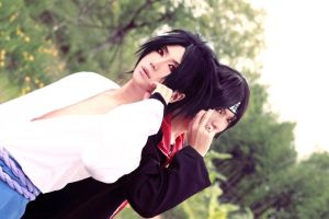 Itachi and Sasuke cosplay by BaoziandHana
