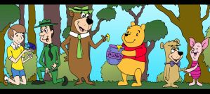 100 Acre Wood meets JellyStone Park by Lordwormm