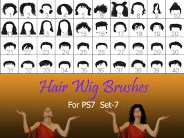 Hair_Wigs_Brushes_SET_7 by intenseone345