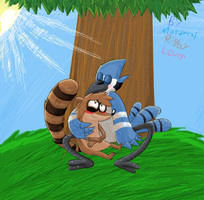 .Mordecai X Rigby. by mordecairigbylover