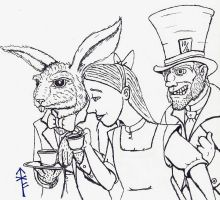 Tea with the Hatter by Woad-Warrior