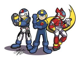 Commission - Mega Man Trio by Despondent-Mega-Man