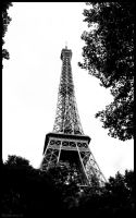 Eiffel Tower Black and white by Relderson