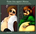 Draw This Again: Drunk and Stuffed by SillyEwe
