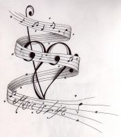 Music Is Life Tatt Design by happyhippybassist