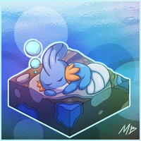 Mudkip's dream by boultim