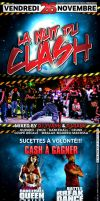 La nuit du clash flyer by gar21nett