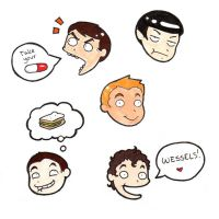 Star Trek doodle head stickers by taconaco