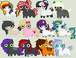 Derp Auctions CLOSED by Rainbow-ninja-adopts