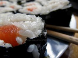 My first time making Sushis! by Sirhaian