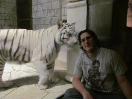 Me and a White Tiger by eramthgin-1027501
