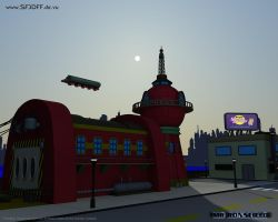 Planet Express Building by MrRonsfield