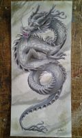 Chinese dragon (platinum or silver) by lacie-alice
