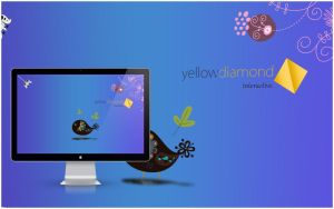 YellowDiamondInteractive wall by tonITart