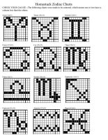 Homestuck Zodiac Knitting/Crochet Charts (Small) by Sygmyr