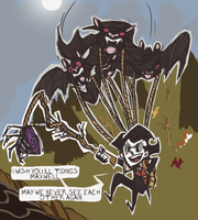 Don't Starve Cave Update: Bats by Kirrw