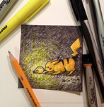 Sticky Note: Pikachu Lightbulb by alisagirard