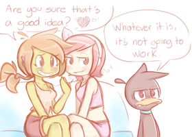 Priscilla, Sushi and Ed the duck by Kupomoty