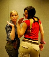 Uncharted Cosplay: Kiss taunt! by LadyofRohan87