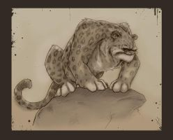 Snow Leopard by patrickianmoss
