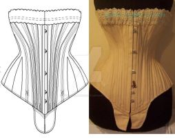 Ref S antique corset pattern by AtelierSylpheCorsets