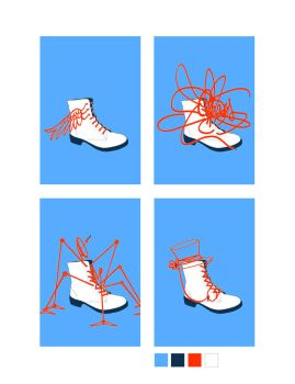 shoe lace compositions by pulchritudinousEXIT