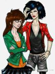 Daria and Jane colored by theELFknownasErinlee