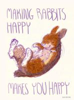 Making rabbits happy by Gnulia